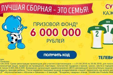 Рекламная акция Nestlé «Каши Nestlé - Лучшая сборная – это семья»
